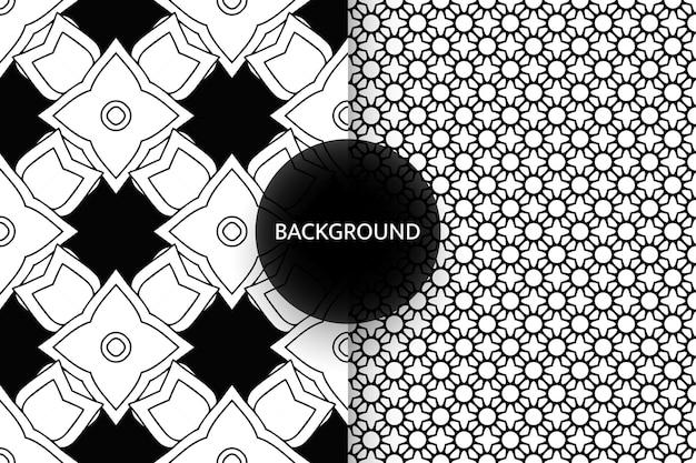 흑인과 백인 원활한 패턴 배경