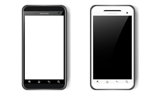 그림자, 카메라 및 섬광, 휴대 전화가있는 흑백 스마트 폰