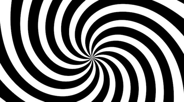 黒と白のスパイラル渦放射状背景
