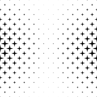 Черно-белый шаблон звезды - абстрактный фон вектор из геометрических фигур