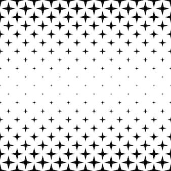 Черно-белая звезда - абстрактный векторный фон из геометрических фигур