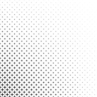 흑백 별 패턴 무료 벡터