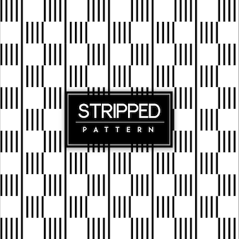 Black and White Stripped Seamless Pattern Background