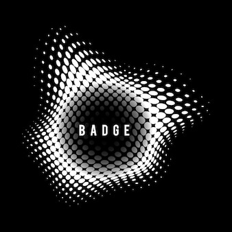 Black and white vintage halftone badge
