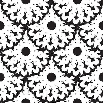 黒と白のヴィンテージベクトルシームレスパターン、壁紙。エレガントでクラシックな質感。豪華な飾り。ロイヤル、ビクトリア朝、バロックの要素。ファブリックやテキスタイル、壁紙、または任意のアイデアに最適です。