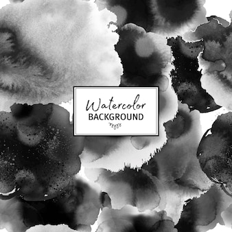 Black and white watercolor pattern
