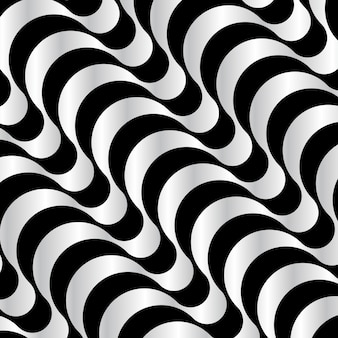 Black and White Wavy pattern