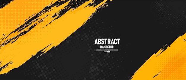 Черный и желтый абстрактный фон