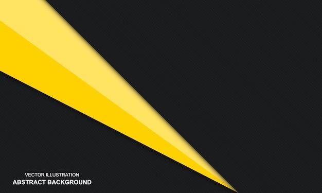 검은색과 노란색 배경 추상 현대