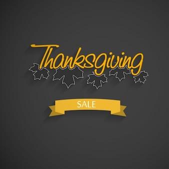 黒と黄色の背景、感謝祭、販売