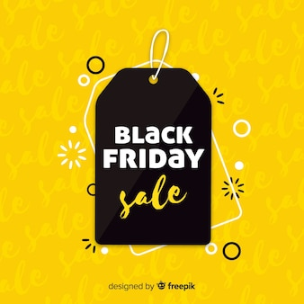 Black and yellow black friday sale background