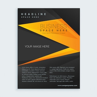 黒と黄色のビジネスパンフレットプレゼンテーション