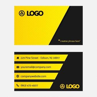 Черно-желтая визитная карточка