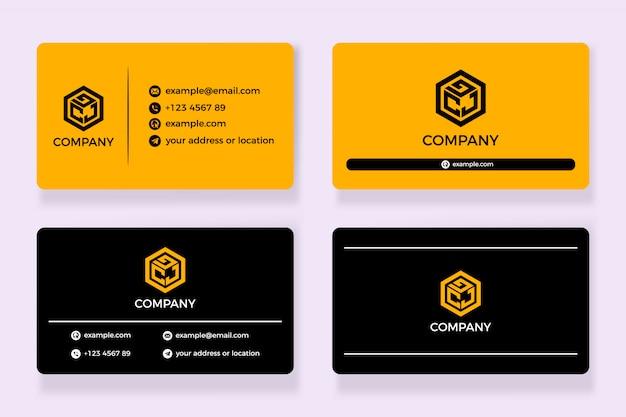 Черно-желтая визитка