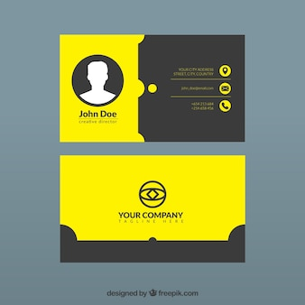 black and yellow corporate card