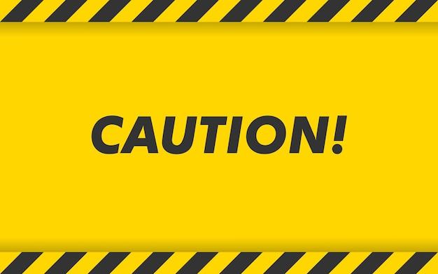 Черно-желтая полоска. предупреждающая лента. пустой фон предупреждения.
