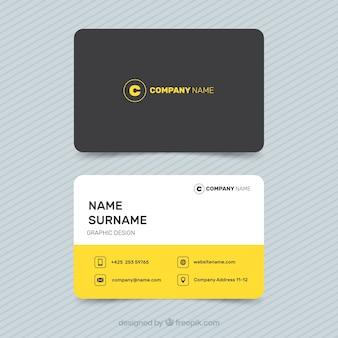 Черная и желтая визитная карточка