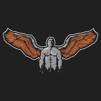 Black angel illustration