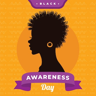 Black awareness day flat design background