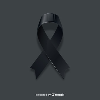 Black awareness ribbon