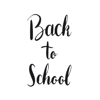 Black back to school typography style vector