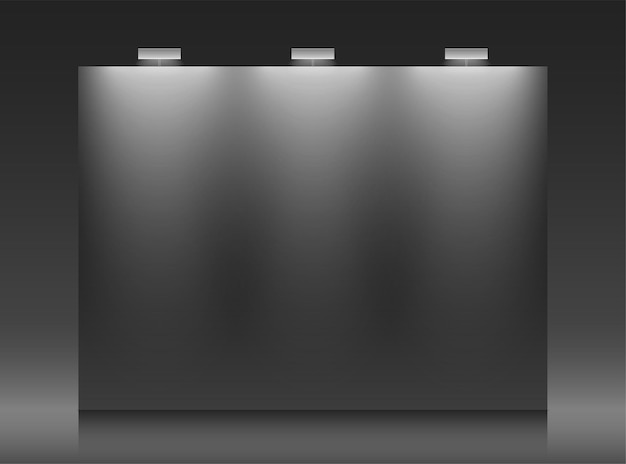 Black backdrop vector template with copy space