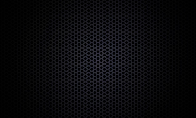 Black background. dark hexagon carbon fiber texture. black honeycomb metal texture steel background.