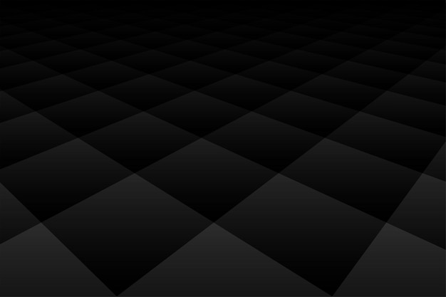 ダイヤモンドの遠近法パターンと黒の背景の暗い壁紙