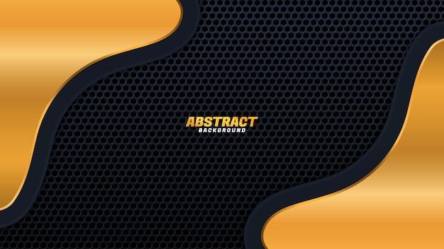 Черный фон размер золото векторные иллюстрации дизайн современный