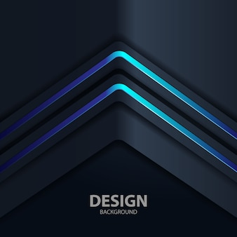 Black background light with abstract color modern