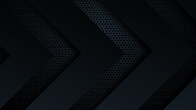 Black background overlap dimension abstract geometric modern.