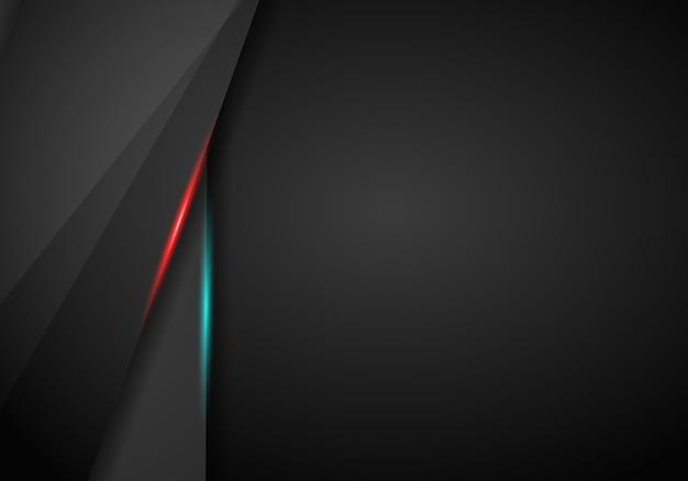 黒の背景重なり寸法赤と青のフレーム
