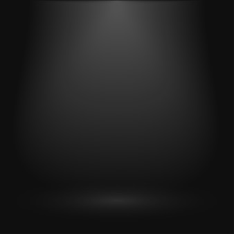 Black background for presentation, display product, empty showroom with spotlight.
