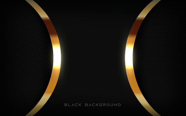 Black background texture layer with golden light