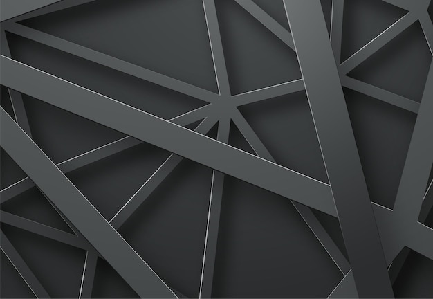 Black background with black lines in the air at different heights.