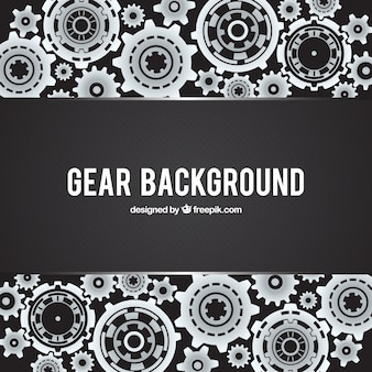 Black background with dots and metallic gears