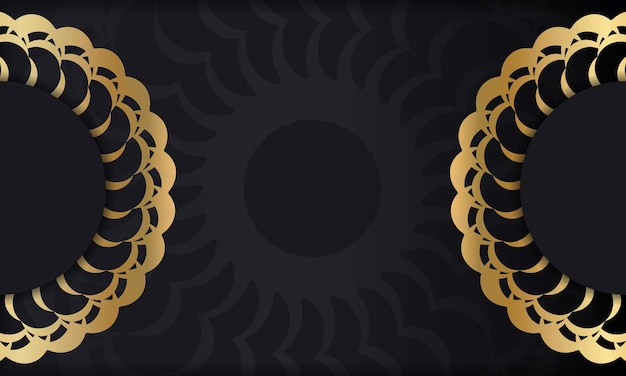 Black background with gold luxury ornament