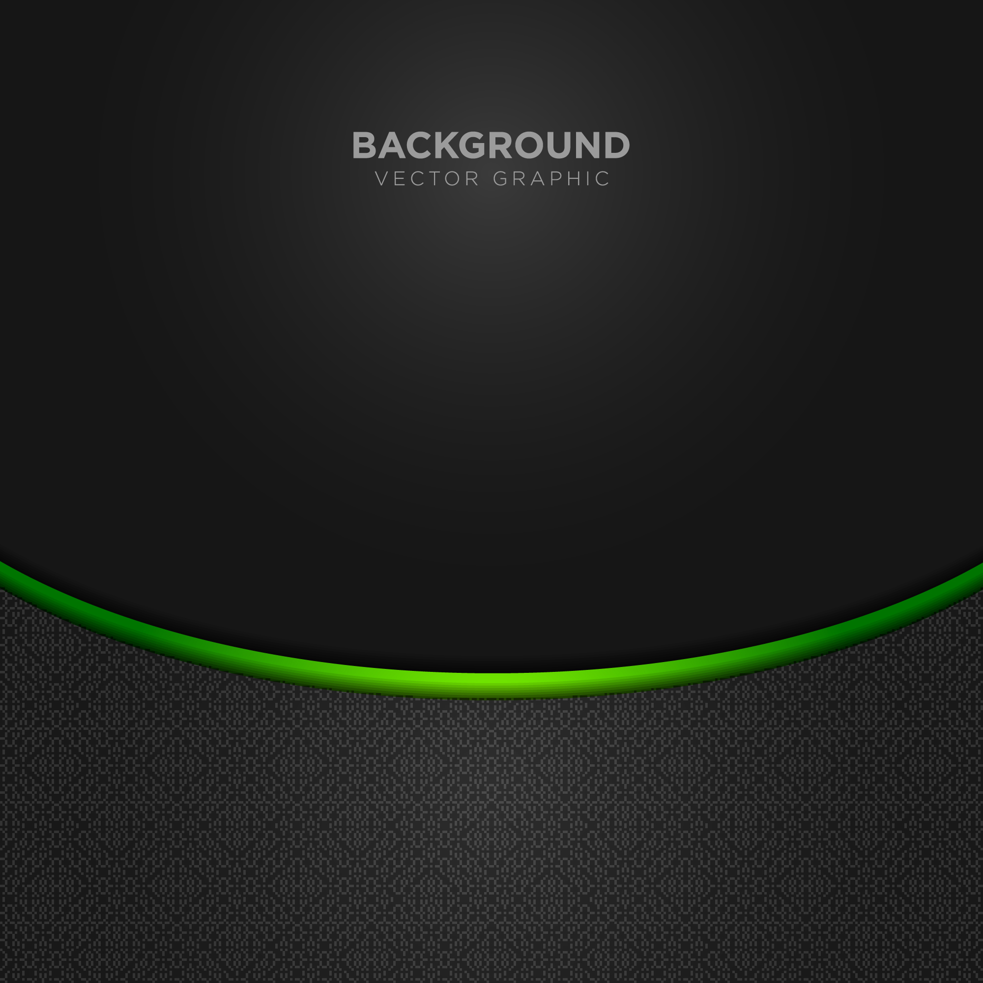 Black background with green details