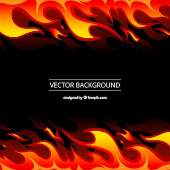 Black background with orange and yellow flames
