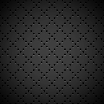 Black background with perforated pattern Premium Vector