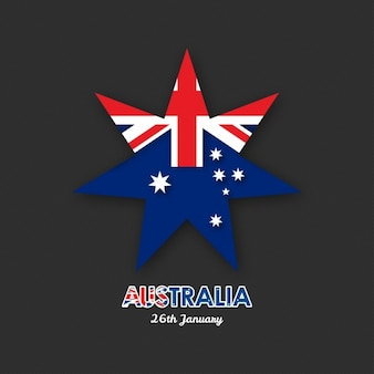 Black background with a star for australia day