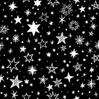 白い星と黒の背景