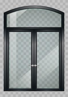 黒いバルコニーのドア