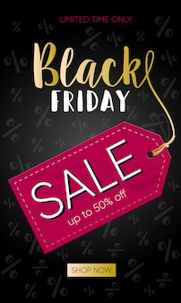 Black banner for sales on black friday. black friday text. vector banner for shop, web, store, business and other. vector eps 10