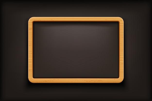 Black blackboard on dark
