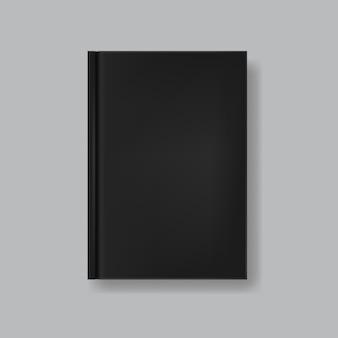 透明に分離された黒い空白の本の表紙