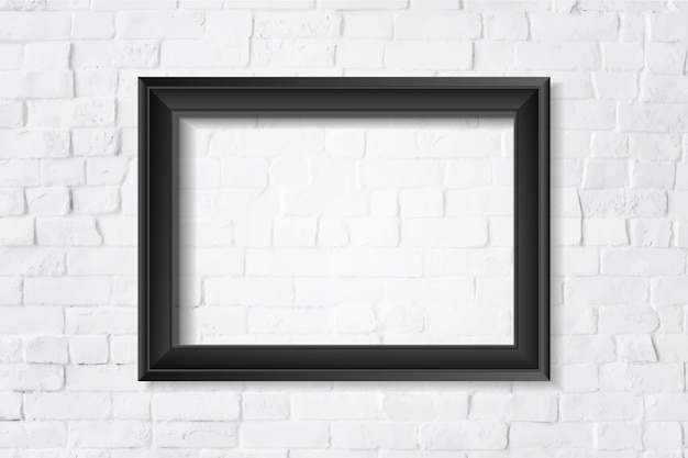 벽에 검은 빈 프레임
