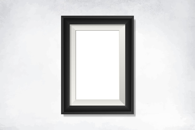 Black blank frame on the wall