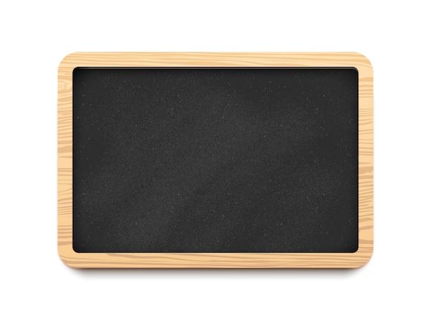 Black blank horizontal chalkboard