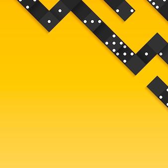 Black blocks frame on blank yellow background vector